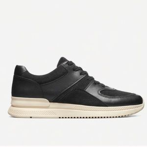 Everlane trainer black suede & leather shoes